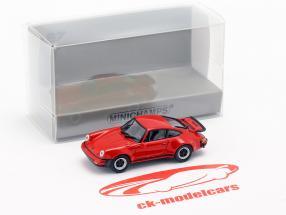 Porsche 911 Turbo (930) Bouwjaar 1977 rood 1:87 Minichamps