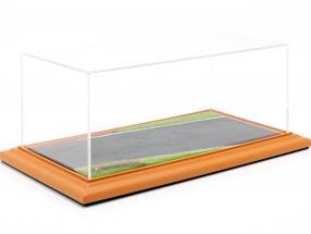 alto calidad acrílico visualización caso con diorama BasePlate Country Road 1:18 Atlantic