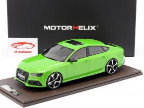 Audi RS7 Sportback Performance year 2016 apple green 1:18 MotorHelix