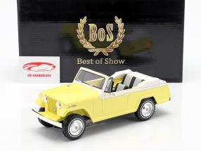 Jeep Jeepster Commando convertible année de construction 1970 jaune / blanc 1:18 BoS-Models