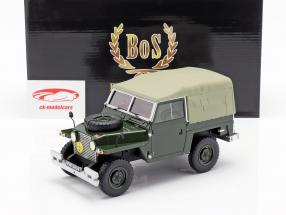 Land Rover Lightweight Series IIA Soft Top Baujahr 1968 dunkelgrün 1:18 BoS-Models