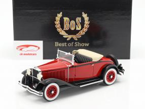 Dodge Eight DG Convertible Opførselsår 1931 rød / sort 1:18 BoS-Models