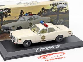 Plymouth Fury Hazard County Sheriff Baujahr 1977 weiß 1:43 Greenlight