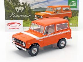 Ford Bronco Bouwjaar 1977 oranje / wit 1:18 Greenlight