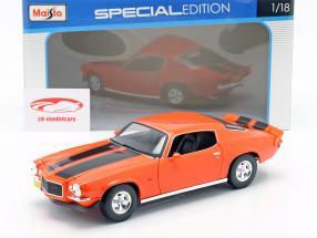 Chevrolet Camaro année de construction 1971 orange / noir 1:18 Maisto