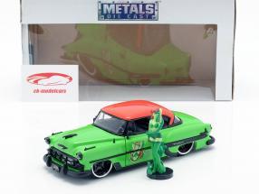 Chevy Bel Air anno di costruzione 1953 con Poison Ivy DC Comics verde / rosso 1:24 Jada Toys
