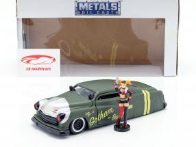 Mercury Opførselsår 1951 med Harley Quinn DC Comics oliven grøn / sølv 1:24 Jada Toys