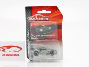 Aston Martin Vantage GT8 sølv / grøn 1:64 Majorette