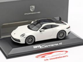 Porsche 911 (992) Carrera 4 branco / preto 1:43 Minichamps