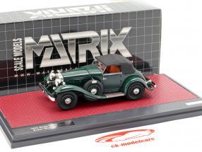 Stutz DV32 Super Bearcat lukket Opførselsår 1932 mørkegrøn 1:43 Matrix