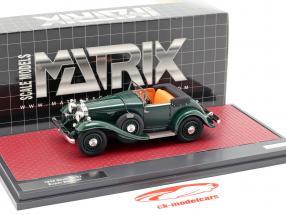 Stutz DV32 Super Bearcat aberto ano de construção 1932 verde escuro 1:43 Matrix
