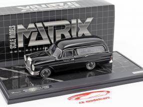 Mercedes-Benz 220SE (W111) Pollmann Hearse año de construcción 1966 negro 1:43 Matrix