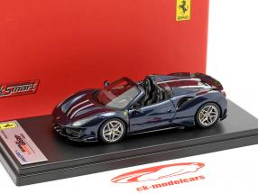 Ferrari 488 Pista Spyder donkerblauw metalen 1:43 LookSmart