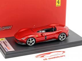 Ferrari Monza SP1 présentation salon Paris 2018 rouge métallique 1:43 LookSmart
