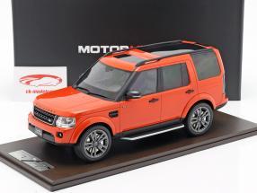 Land Rover Discovery IV year 2016 orange 1:18 MotorHelix