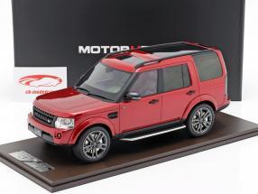 Land Rover Discovery IV año de construcción 2016 rojo 1:18 MotorHelix