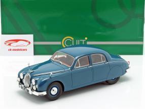 Jaguar 2.4 MKI année de construction 1955 bleu 1:18 Cult Scale