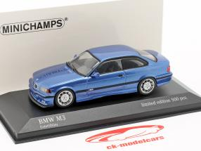 BMW M3 (E36) year 1992 estoril blue metallic 1:43 Minichamps