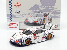 Porsche 911 RSR #911 Class Winner Petit LeMans 2018 Porsche GT Team 1:18 Spark