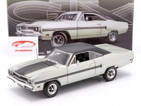 Plymouth GTX anno di costruzione 1970 argento metallico / nero 1:18 GMP