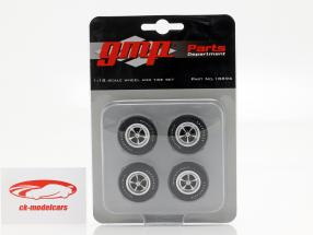 Plymouth Wheel and Tire Set (from GMP 18895) 1:18 GMP