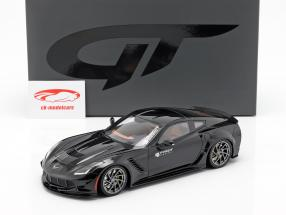 Chevrolet Corvette C7 Prior Design 2019 noir 1:18 GT-Spirit