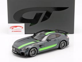 Mercedes-Benz AMG GT-R Pro Bouwjaar 2019 grijs / groen 1:18 GT-Spirit