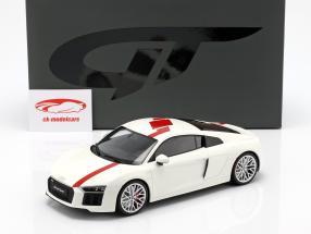 Audi R8 RWS TBC année de construction 2018 blanc / rouge 1:18 GT-Spirit