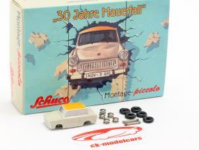 Trabant 601 caso conjunto 30 años caída del muro 1:90 Schuco Piccolo
