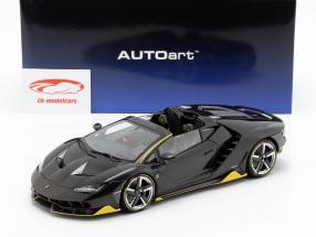 Lamborghini Centenario Roadster year 2016 clear carbon / yellow 1:18 AUTOart