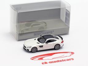 Brabus 600 baseado em Mercedes-Benz AMG GT S ano de construção 2015 branco metálico 1:87 Minichamps