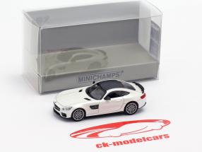 Brabus 600 based on Mercedes-Benz AMG GT S year 2015 White metallic 1:87 Minichamps