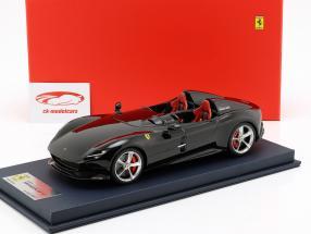 Ferrari Monza SP2 ano de construção 2018 preto com mostruário 1:18 LookSmart