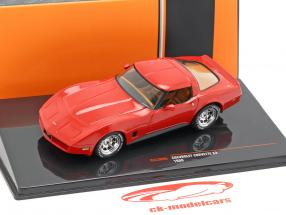 Chevrolet Corvette C3 año de construcción 1980 rojo 1:43 Ixo
