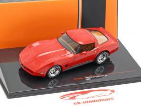 Chevrolet Corvette C3 Baujahr 1980 rot 1:43 Ixo