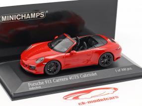 Porsche 911 (991 II) Carrera 4 GTS Cabriolet 2017 guards red 1:43 Minichamps
