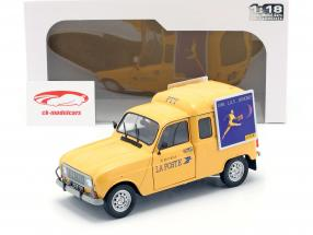 Renault 4LF4 La Poste anno di costruzione 1988 giallo 1:18 Solido