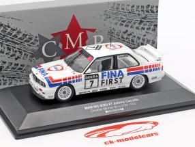 BMW M3 (E30) #7 doppio vincitore Brno DTM 1992 Johnny Cecotto 1:43 CMR