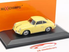 Porsche 356 B coupe Opførselsår 1961 gul 1:43 Minichamps