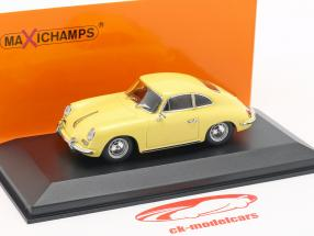 Porsche 356 B coupe year 1961 yellow 1:43 Minichamps