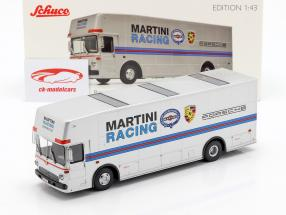 Mercedes-Benz O 317 raça caminhão Porsche Martini Racing prata 1:43 Schuco