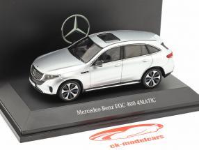 Mercedes-Benz EQC 4Matic (N293) Bouwjaar 2019 hightech zilver 1:43 Spark