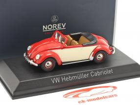Volkswagen VW Hebmüller cabriolé año de construcción 1949 rojo / crema blanco 1:43 Norev