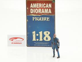 Zombie mekaniker I figur 1:18 American Diorama