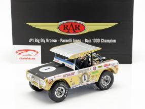 Ford Bronco Big Oly #1 Baja 1000 campeón 1971 Jones, Stroppe 1:18 GMP