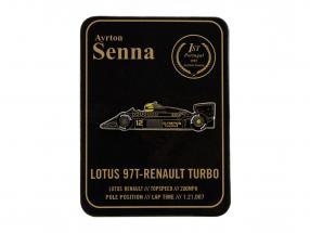 Ayrton Senna Knapper 1st Victory Portugal GP formel 1 1985 klassisk hold lotus