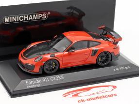 Porsche 911 (991 II) GT2 RS année de construction 2018 lava orange 1:43 Minichamps