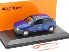 Ford Fiesta anno di costruzione 1995 blu metallico 1:43 Minichamps