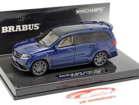 Brabus 850 Widestar XL basado en AMG GLS 63 2017 azul metálico 1:43 Minichamps