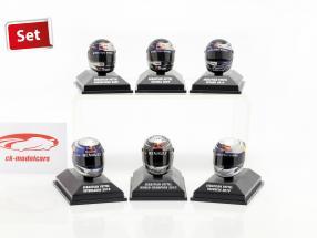 6 stuks Set Sebastian Vettel Red Bull helm collectie 2009-2010 1:8 Minichamps